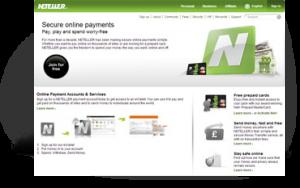 Neteller's website snapshot