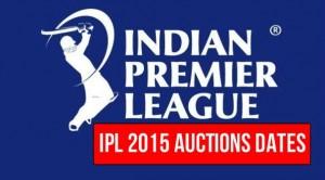 IPL 2015 Auction Date