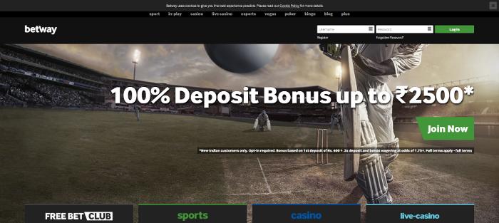 You get a great deposit bonus on Betway