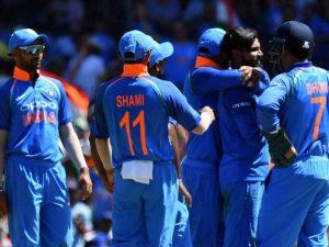 Indian players celebrating