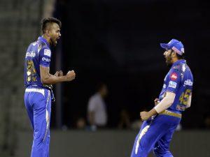 Mumbai Indians player Hardik Pandya and Rohit Sharma