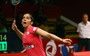 Saina Nehwal playing in Denmark Open
