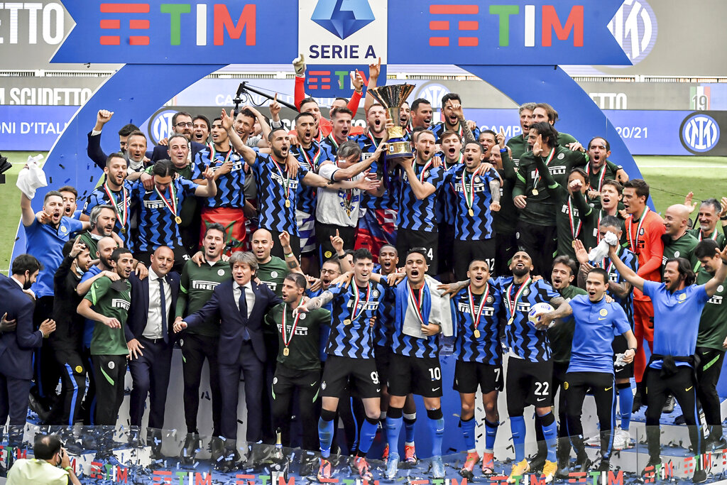 Inter Milan lead Serie A betting odds