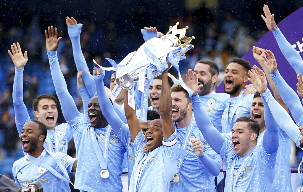 Manchester City lead Premier League odds table